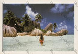 CARTOLINA,  SEYCHELLES, MARE,SOLE, LETTINI,SPIAGGIA, VACANZA, ESTATE, PARADISO,  NON  VIAGGIATA - Seychelles
