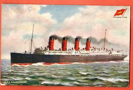 CAF-05 RMS Mauretania Cunard Line Tuck's Postcard Oilette. Not Used - Steamers