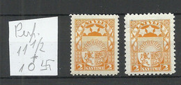 LETTLAND Latvia 1927/31 Michel 117 Perforated 10 & 11 1/2 * - Lettonia