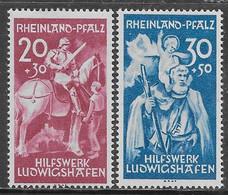 Germania Germany 1948 French Occupation Rheinland Pfalz Ludwigshafen Mi N.30-31 Complete Set MH * - Franse Zone