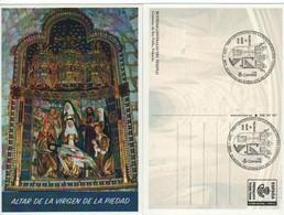 Tarjeta Prefranqueada 2019- PALENCIA - ALTAR  VIRGEN DE LA PIEDAD - Mat. CENTENARIO CONVENTO DE SAN PABLO - PALENCIA - 1931-....