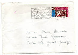 1974--tp PARIS 1975--Expo Philatélique Seul --cachet Mécanique St DENIS( Réunion)--cachet (oiseau Et Tortue) - 1961-....