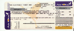 Alt1121 Air One Airways Billets Avion Ticket Biglietto Aereo Passenger Receipt Imbarco Torino Napoli Airport 2006 - Europa