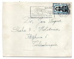 1962--tp Monument Résistants Ile De SEIN Seul Sur Lettre De GIVET-08 Pour KRIJKOVA (Tchécoslovaquie)--cachet Mécanique - 1961-....
