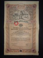 TCHECOSLOVAQUIE - PRAGUE 1922 - EMPRUNT 3.5 % - TITRE DE 1500 COURONNES - BELLE ILLUSTRATION - PEU COURANT - Zonder Classificatie