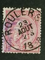 COB N° 46 Oblitération Roulers - 1884-1891 Leopold II
