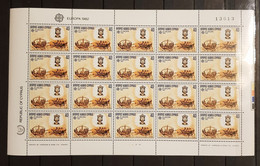 CYPRUS EUROPA 1982 HISTORIC EVENTS 2 SHEETS PERFORED MNH - Otros