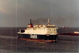 """Photo Couleur Bateau """" Darnia """" Sealink Caledonian Railway Company UK 1977 Linz Autriche 1982 Modifié Passagers - Schiffe"""