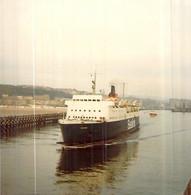 "Photo Bateau "" Vorticern "" Sealink Port De Boulogne Sur Mer 1984 - Boats"