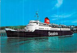 """Cpsm Bateau """" Caesarea """" Sealink 1960 Cowes 1977 Boulogne Folkestone - Fähren"""