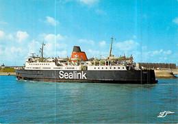 "Cpsm Bateau "" Vortigern "" British Railways Board 1969 Sealink Calais Dover - Traghetti"