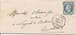 SEINE (60) LAC  PARIS OBLI ETOILE 24 R DE CLERY Pour NOGENT LE ROTROU + AMBULANT - 1849-1876: Classic Period