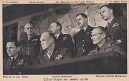 état-major Des Armées Alliées Tedder Eisenhower Montgomery Bradley Ramsay Malhory Smith - Guerra 1939-45