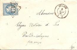 ALPES-MARITIMES (87) ENV De GRASSE GC 1707 Sur NAP (déchirure) Pour LA BASTIDE ESCLAPONS Par COMPS - 1849-1876: Classic Period