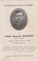 Faire-part De Décès - Mémento - Abbé Bernard Bourdot - 9 Avril 1948 - Curé De Binges (21) - Todesanzeige