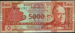 ♛ PARAGUAY - 5.000 Guaranies 2005 {Printer: De La Rue London} {series D} UNC P.223 A - Paraguay