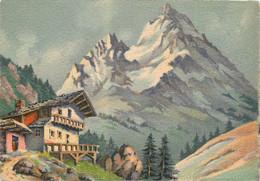 CPSM Peinture-Paysage De Montagne    L188 - Paintings