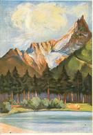 CPSM Peinture-Paysage De Montagne-Chamonix-Mont Blanc    L188 - Paintings
