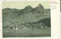 Brunnen Und Die Mythen 1903 - Nicht Gelaufen. (Gebr. Wehrli, Kilchberg-Zürich) - SZ Schwyz
