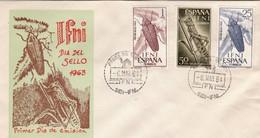 ESPAÑA .COLONIAS SIDI IFNI 1964 SOBRE PRIMER DIA EDIFIL 200 A 202 - Ifni