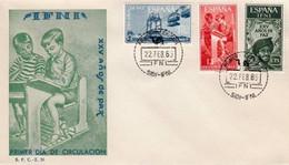 ESPAÑA .COLONIAS SIDI IFNI 1965 SOBRE PRIMER DIA EDIFIL 209 A 211 - Ifni