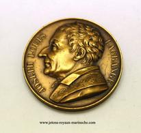 Joseph Louis Lagrange. Galerie Métallique N° 59/2  Graveur. Donadio 1818. Poinçon Bronze Lampe. Voir Le Livre N° 7 - Monarchia / Nobiltà