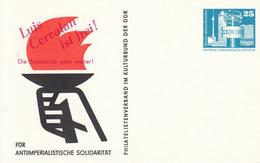 DPP 16/5  Für Antimperialistische Solidarität - Philatelistenberband Im Kulturbund Der DDR - Luis Corvalan Ist Frei! - Postales Privados - Nuevos