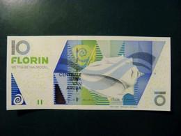 UNC Banknote Aruba 2003 10 Florin P-16a Shell Conch - Aruba (1986-...)