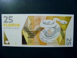 UNC Banknote Aruba 2003 25 Florin P-17a Animal Snake - Aruba (1986-...)