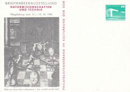DPP 17/65  Briefmarkenausstellung Naturwissenschaften Und Technik - Philatelistenverband Im Kulturbund Der DDR - Postales Privados - Nuevos