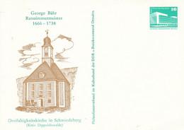 DPP 17/27 George Bähr Ratszimmermeister 1666-1738 - Dreifaltigkeitskirche - Philatelistenverband Im Kulturbund Der DDR - Postales Privados - Nuevos
