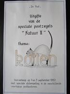 Herdenkingsblad Uitgifte Katten Met Reeks OBP2521/24 Met 6 Versch. Afstempelingen - Souvenir Cards
