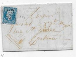 Dispersion Collection D'AMBULANT Sur Lettre CHERBOURG A BERNAY Sans Cad  Griffe CH B S/ Timbre  Empire - Railway Post