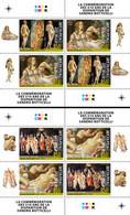 CENTRAL AFRICA 2020 - S. Botticelli, Archery, 2 M/S. Official Issue [CA200524c] - Tiro Con L'Arco