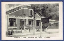 CPA TARN-ET-GARONNE (82) - CAMP DE CAYLUS - RESTAURANT BON ACCUEIL - LA FACADE - Caylus