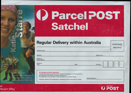 Katie Starre, Australia Field-Hockey, Olympic Gold Medals On Mint Parcel Post Satchel Plastic Cover Postage Prepaid Mint - Hockey (sur Gazon)