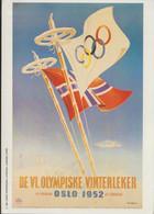 Hjalmar Andersen, Norway Skating, Gold Medal Winner - Signature On 1952 Oslo Winter Olympic Postcard (modern) Used - Winter (Other)
