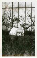 Enfant Et Ours En Peluche Devant Arbre Fruitier  - Teddy Bear  - Photo 9 X 14 Cm Papier Glacé - Voorwerpen