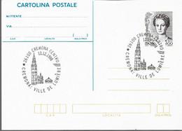 Cartolina Postale DONNA NELL'ARTE L.800 Con Annullo Marcofilo - Postwaardestukken