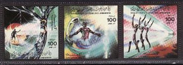 Libya, 1985, Deportation Of Foreign Troops, 3 Stamps - Militaria
