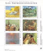 Bloc-Feuillet Les IMPRESSIONNISTES - 6 Vignettes. TB - Blocchi & Foglietti