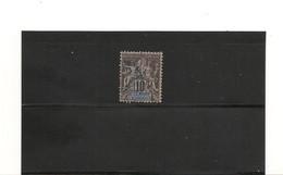 NOUVELLE CALÉDONIE 1892 N° Y/T : 45° - Gebraucht