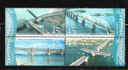 UKRAINE 2004 PONTS   YVERT N°588/91 NEUF MNH** - Bridges