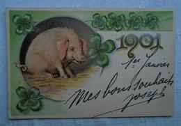 CPA Fantaisie - Millésime 1901/ Cochon Et Trèfles - Anno Nuovo