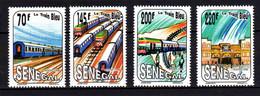 Sénégal N° 993 / 96 XX Le Train Bleu, Les 4 Valeurs Sans Charnière, TB - Senegal (1960-...)