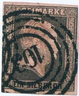 """Preussen Michel-# 2 """" Marke #2 Mit Zentrischem VIERRING-STEMPEL 103 """" Michel 11 € - Prusse"""