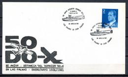 Spain 1981 España / Special Postmark Aviation Dornier Do-x Matasellos Aviación Poststempel Luftfahrt / Jk05 35-37 - Aerei