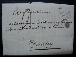 Lille 1824 Lettre Pour Le Sous Intendant Militaire De Warenghien à Douai à Propos De La Mort Du Baron - 1801-1848: Precursors XIX