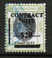 HONG KONG  BF #144 VF USED REVENUE (Stamp Scan #740) - Other