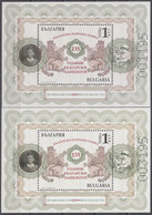 BULGARIA 2020, 135 Years Of BULGARIAN BANKNOTES, TWO MNH DIFFERENTS BLOCKS In GOOD QUALITY,*** - Unused Stamps